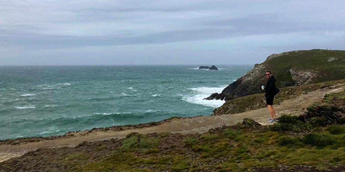 Stormy Cornwall beach