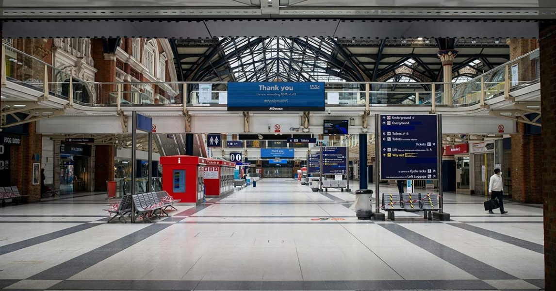 Liverpool street station empty