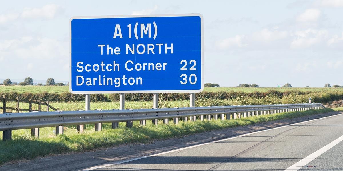 A1 road sign motorway