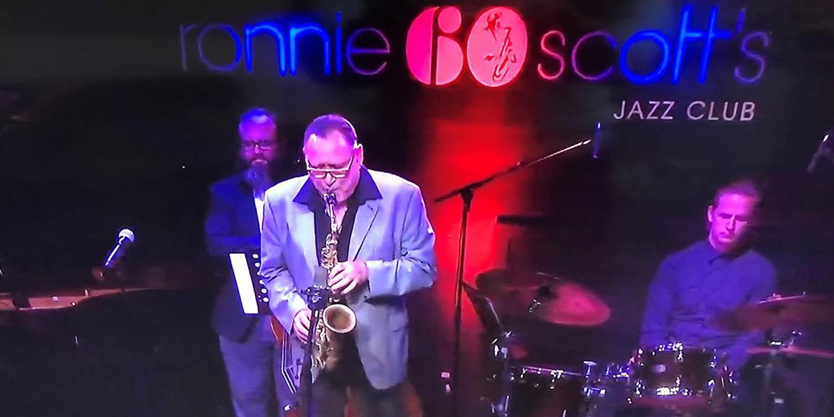Ronnie Scotts jazz saxophone player on stage