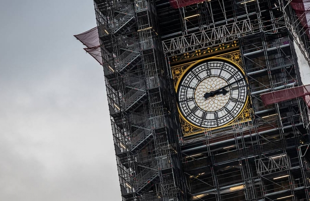 Big Ben with scaffolding
