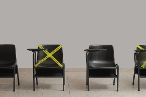 Socially-distanced chairs
