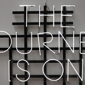 The journey is on light installation